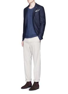 Eidos'Tenero' check plaid hopsack soft blazer