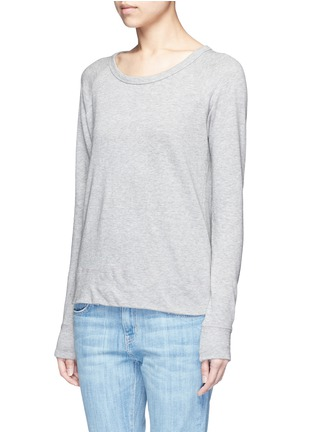 Front View - Click To Enlarge - James Perse - Raglan sleeve Supima® cotton sweatshirt