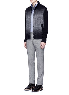 Altea Houndstooth effect bomber cardigan