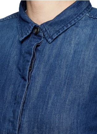 Detail View - Click To Enlarge - Closed - High-low hem denim shirt dress
