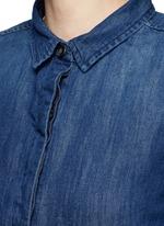 High-low hem denim shirt dress