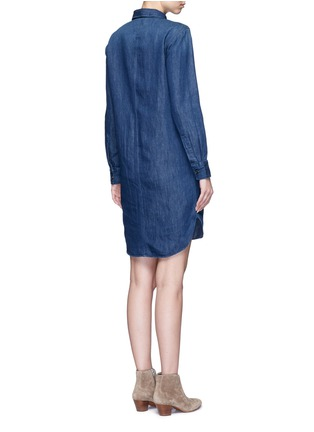 Back View - Click To Enlarge - Closed - High-low hem denim shirt dress