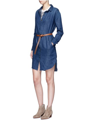 Figure View - Click To Enlarge - Closed - High-low hem denim shirt dress
