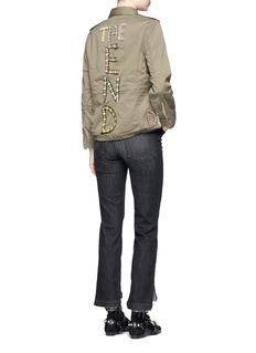 Tu Es Mon Trésor'The End' floral bow appliqué military jacket