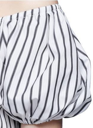 Caroline Constas-'Bardot' stripe off-shoulder dress