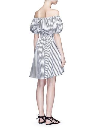 Back View - Click To Enlarge - Caroline Constas - 'Bardot' stripe off-shoulder dress