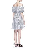 'Bardot' stripe off-shoulder dress