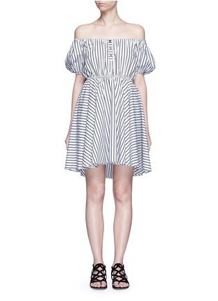 Main View - Click To Enlarge - Caroline Constas - 'Bardot' stripe off-shoulder dress