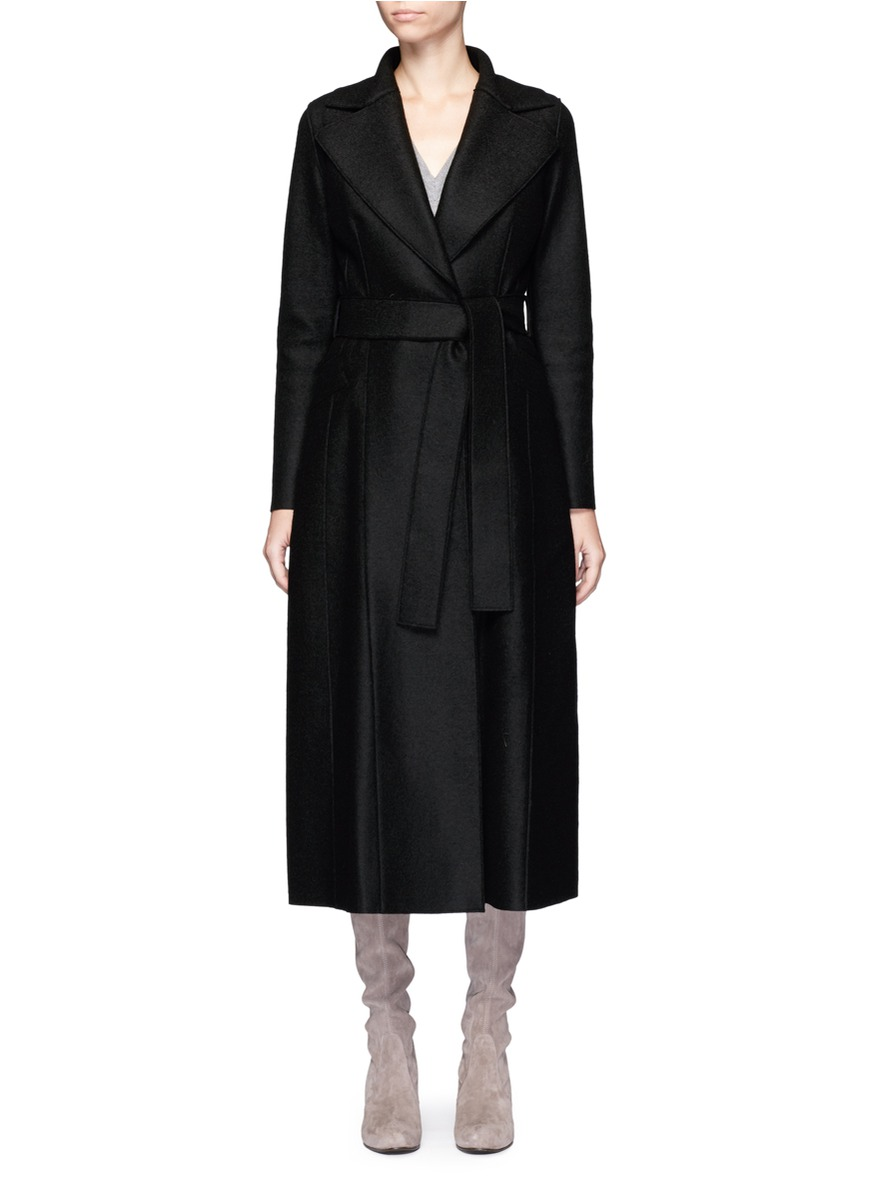 Belted wool duster coat by Harris Wharf London