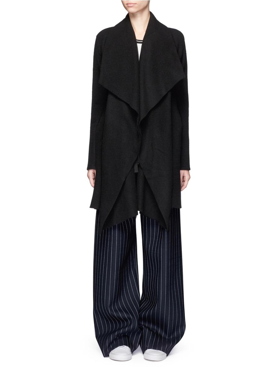 Shawl collar cashmere blanket coat by Harris Wharf London