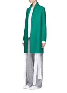 Harris Wharf LondonWool cocoon coat