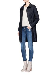 Harris Wharf LondonWool cashmere blend tweed coat