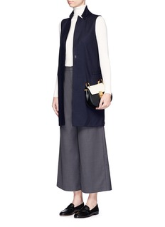 Harris Wharf LondonLong wool waistcoat
