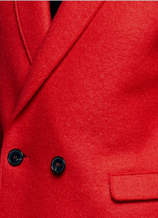 Detail View - Click To Enlarge - Harris Wharf London - Double breasted wool coat