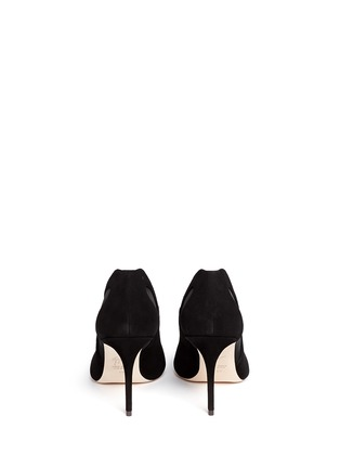 Back View - Click To Enlarge - Giuseppe Zanotti Design - 'Lucrezia' suede mesh cutout pumps