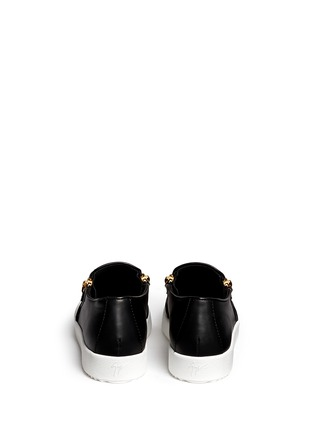 Back View - Click To Enlarge - Giuseppe Zanotti Design - 'May London' logo leather skate slip-ons