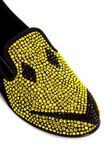 'Dalila' strass suede slip-ons