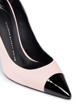 'Lucrezia' leather combo pumps