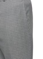 Check wool hopsack pants