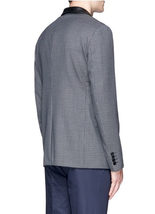 Back View - Click To Enlarge - Lanvin - Leather collar check wool blazer