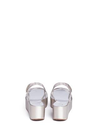 背面 - 点击放大 - PEDRO GARCÍA - NATALIA仿水晶搭带坡跟凉鞋