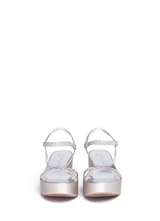 正面 -点击放大 - PEDRO GARCÍA - NATALIA仿水晶搭带坡跟凉鞋