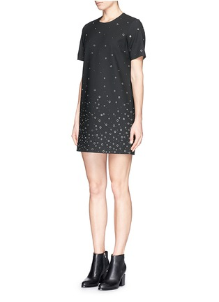 Figure View - Click To Enlarge - Elizabeth and James - 'Karen' grommet shift dress