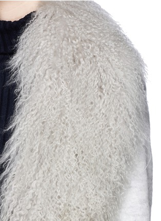 Detail View - Click To Enlarge - Elizabeth and James - 'Iris' detachable Mongolian fur collar soft focus felted coat