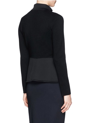 Back View - Click To Enlarge - Armani Collezioni - Neoprene panel wool knit jacket