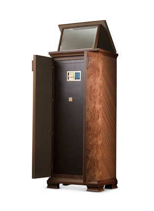 - Agresti - Elm Briar wood armoire with safe