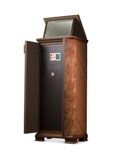 Agresti Elm Briar wood armoire with safe