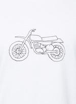 'Moto Bike' print cotton T-shirt