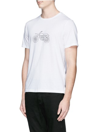Front View - Click To Enlarge - rag & bone - 'Moto Bike' print cotton T-shirt