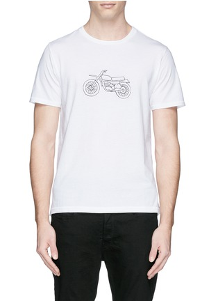 Main View - Click To Enlarge - rag & bone - 'Moto Bike' print cotton T-shirt