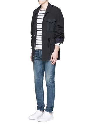 Figure View - Click To Enlarge - rag & bone - 'Fit 2' distressed wash jeans