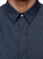 'Casper' geometric print poplin shirt