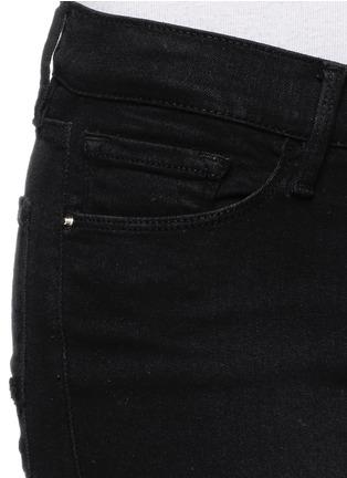 Detail View - Click To Enlarge - Frame Denim - 'Le Skinny de Jeanne' frayed panel jeans