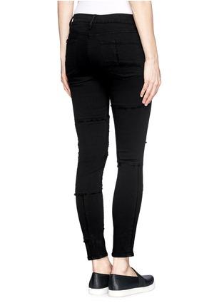 Back View - Click To Enlarge - Frame Denim - 'Le Skinny de Jeanne' frayed panel jeans