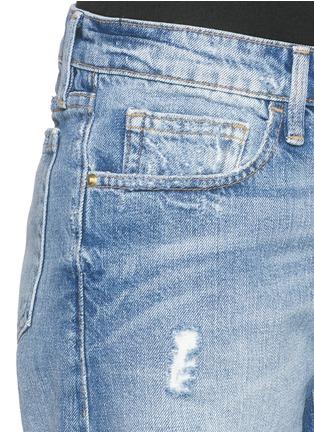 细节 - 点击放大 - FRAME DENIM - LE GRAND GARÇON水洗破洞牛仔短裤