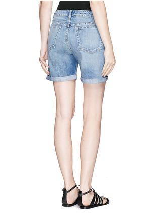 背面 - 点击放大 - FRAME DENIM - LE GRAND GARÇON水洗破洞牛仔短裤
