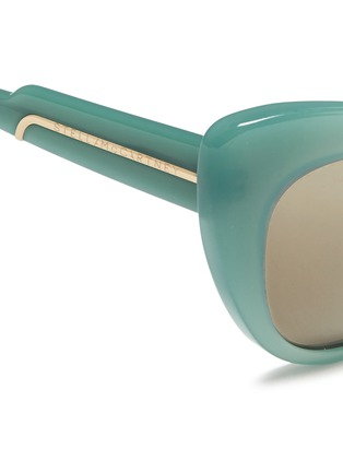 Detail View - Click To Enlarge - Stella McCartney - Oversize cat eye acetate sunglasses