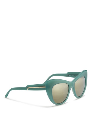 Figure View - Click To Enlarge - Stella McCartney - Oversize cat eye acetate sunglasses