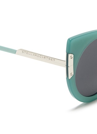 Detail View - Click To Enlarge - Stella McCartney - Cat eye acetate round sunglasses