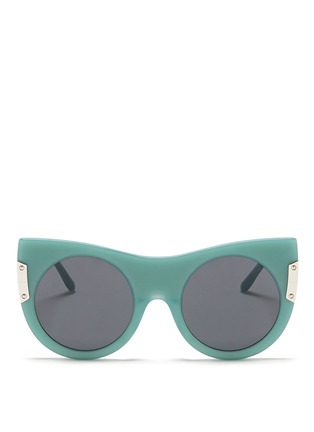 Main View - Click To Enlarge - Stella McCartney - Cat eye acetate round sunglasses