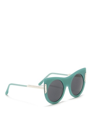 Figure View - Click To Enlarge - Stella McCartney - Cat eye acetate round sunglasses