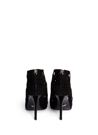 Back View - Click To Enlarge - DIANE VON FURSTENBERG SHOES - 'Delancey' caged suede platform sandals