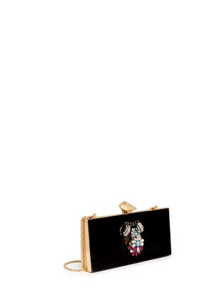 Detail View - Click To Enlarge - KOTUR - 'Levin' jewel crystal Perspex clutch