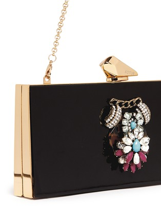 - KOTUR - 'Levin' jewel crystal Perspex clutch