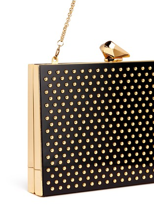Detail View - Click To Enlarge - KOTUR - 'Merrick' stud Perspex box clutch