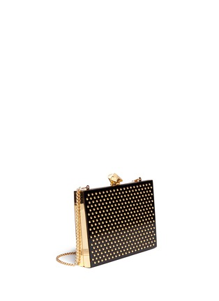 Front View - Click To Enlarge - KOTUR - 'Merrick' stud Perspex box clutch